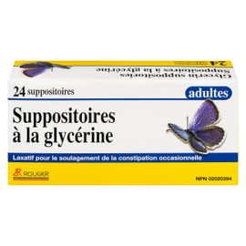 Rougier 24 Suppositoires à la Glycérine Adultes