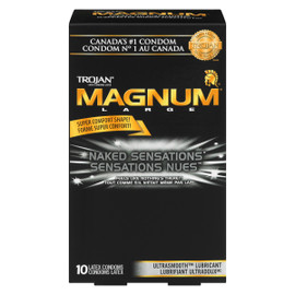 Trojan Magnum Sensations Nues Condoms Latex Large 10 Condoms Latex