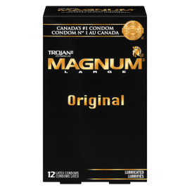 Trojan Magnum Large Original Lubrifiés 12 Condoms Latex