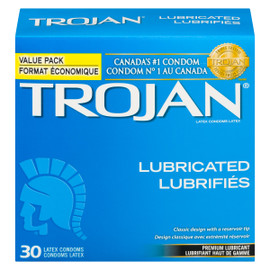 Trojan Lubrifiés 30 Condoms Latex