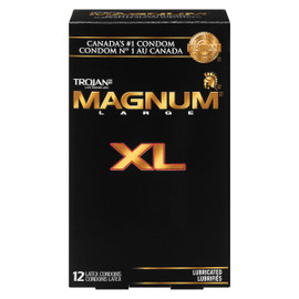 Trojan Magnum Large XL Lubrifiés 12 Condoms Latex