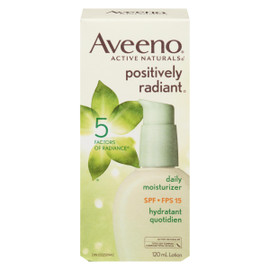 Aveeno Active Naturals Positively Radiant Lotion Hydratant Quotidien FPS 15 120 ml