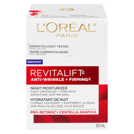 L'Oréal Paris Revitalift Anti-Wrinkle + Firming Hydratant de Nuit Peau Sensible 50 ml