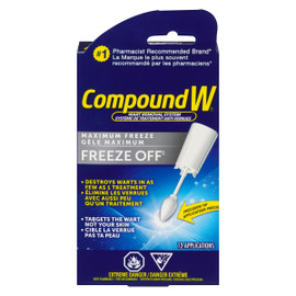 Compound W Freeze Off Système de Traitement Anti-Verrues 12 Applications