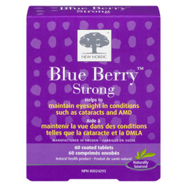 New Nordic Blue Berry Strong 60 Comprimés Enrobés