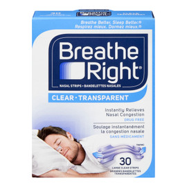 Breathe Right Bandelettes Nasales Grandes TRANSPARENTES