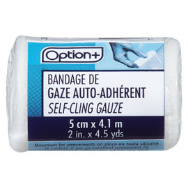 Option+ Bandage De Gaze Auto-Adhérent 5 Cm X 4.1 M 1 UN