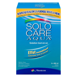 Menicon Solo Care Aqua Solution Tout-en-Un 2 x 360 ml