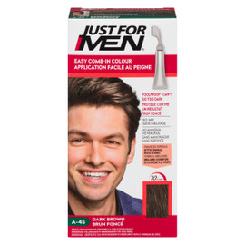 Just for Men Ensemble à Application Unique Application Facile au Peigne Brun Foncé A-45 35 g