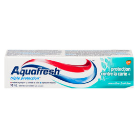 Aquafresh Triple Protection Dentifrice au Fluorure Protection Contre la Carie + Menthe Fraîche 90 ml