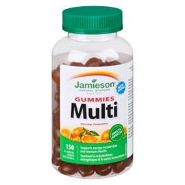 Jamieson Gummies Multi Orange Juteuse Adultes 150 Gummies Tout Naturels