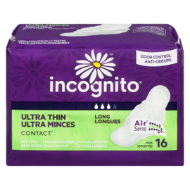 Incognito Ultra Minces Contact Longues 16 Serviettes