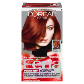 L'Oréal Paris Féria Power Red Couleur Vibrante Haute Intensité R68 Riche Acajou Rouge Véritable