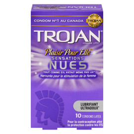 Trojan Plaisir pour Elle Sensations Nues Condoms Latex 10 Condoms Latex