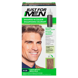 Just for Men Ensemble à Application Unique Shampooing Colorant Brun Pâle H-25