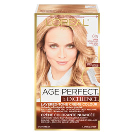 L'Oréal Paris Excellence Age Perfect Crème Colorante Nuancée Permanent 8 N Blond Moyen Naturel