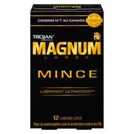 Trojan Magnum Condoms Latex Large Mince 12 Condoms Latex