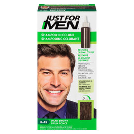 Just for Men Ensemble à Application Unique Shampooing Colorant Brun Foncé H-45
