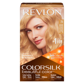 Revlon ColorSilk Beautiful Color 3D Color Gel Technology Permanent + No Ammonia 75 Blond Doré Chaud