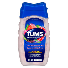 Tums Antiacide Baies Assorties Ultra Fort 1000 mg 72 Unités