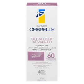 Garnier Ombrelle Ultra Light Advanced Écran Solaire FPS 60 Protection à Large Spectre 50 ml