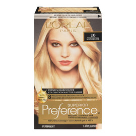 L'Oréal Paris Superior Preference Coloration Haut de Gamme Permanent 10 Scandinavie Blond Très Clair