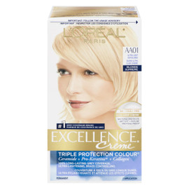 L'Oréal Paris Excellence Creme Triple Protection Colour Permanent AA01 Blond Ultra Clair Cendré