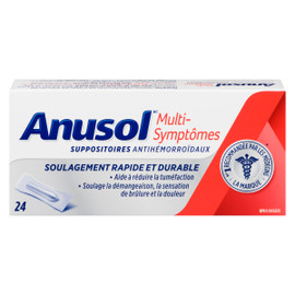 Anusol Multi-Symptômes 24 Suppositoires Antihémorroïdaux