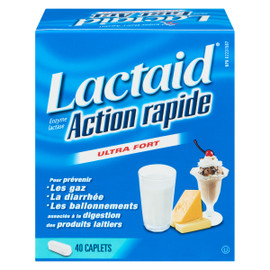 Lactaid Enzyme Lactase Action Rapide Ultra Fort 40 Caplets
