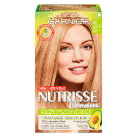 Garnier Nutrisse Cream Crème Colorante Nutritive Permanent 80 Blond Moyen Naturel