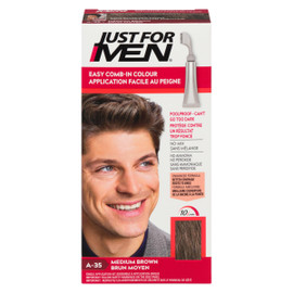 Just for Men Ensemble à Application Unique Application Facile au Peigne Brun Moyen A-35 35 g