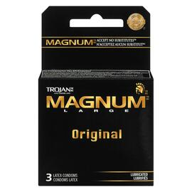 Trojan Magnum Large Original Lubrifiés 3 Condoms Latex