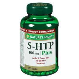 Nature's Bounty 5-HTP 100 mg Plus Paquet Économique 120 Capsules