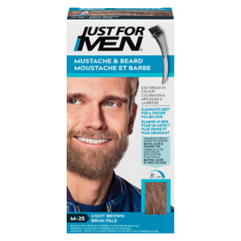 Just for Men Ensemble à Applications Multiples Moustache et Barbe Brun Pâle M-25