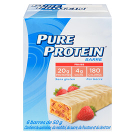 Pure Protein Barre Fraise 6 Barres x 50 g