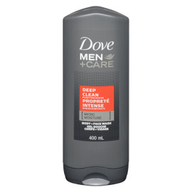 Dove Men +Care Propreté Intense Grains Purifiants Gel Douche Corps + Visage 400 ml