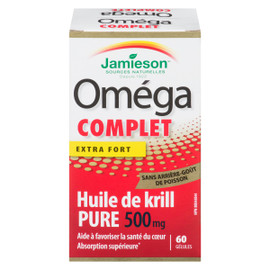 Jamieson Oméga Complet Huile De Krill Pure Extra Fort 500 Mg 60 GÉLULES