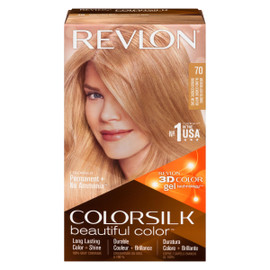 Revlon ColorSilk Beautiful Color 3D Color Gel Technology Permanent + No Ammonia 70 Blond Cendré Moyen