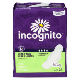 Incognito Ultra Minces Contact de Nuit 28 Serviettes