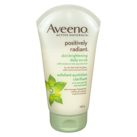 Aveeno Active Naturals Positively Radiant Exfoliant Quotidien Clarifiant 140 g
