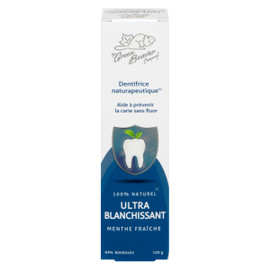 The Green Beaver Company Dentrifrice Naturapeutique Ultra Blanchissant Menthe Fraîche 100 g