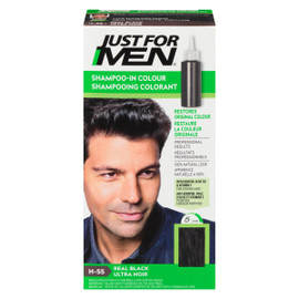 Just for Men Ensemble à Application Unique Shampooing Colorant Ultra Noir H-55