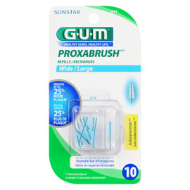 G.u.m Proxabrush 10 Recharges Large 614