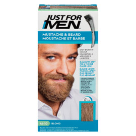 Just for Men Ensemble à Applications Multiples Moustache et Barbe Blond M-10