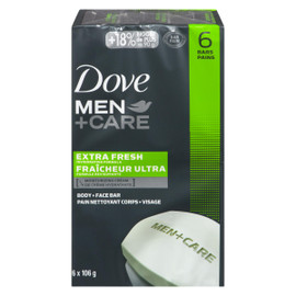 Dove Men+Care Pain Nettoyant Corps + Visage Fraîcheur Ultra 6 Pains x 106 g