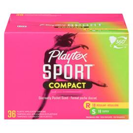 Playtex Sport Compact 36 Tampons Compacts