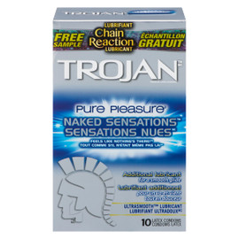Trojan Sensations Nues Pure Pleasure 10 Condoms Latex