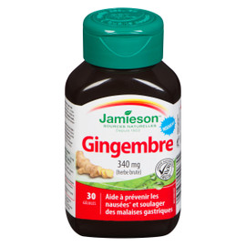 Jamieson Gingembre Herbe Brute 340 mg 30 Gélules
