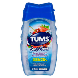 Tums Smoothies Antiacide Fusion Fruitée Extra Fort 750 mg 60 Unités