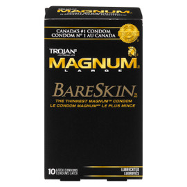 Trojan Magnum Large BareSkin 10 Condoms Latex Lubrifiés